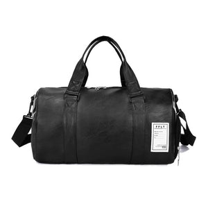 Wobag 2019 Quality Travel Bag black PU Leather Couple Travel Bags Hand Luggage For Men And Women Fashion Duffle Bag