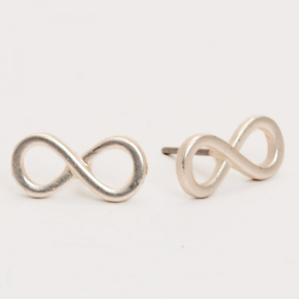 Infinity Silver Earrings
