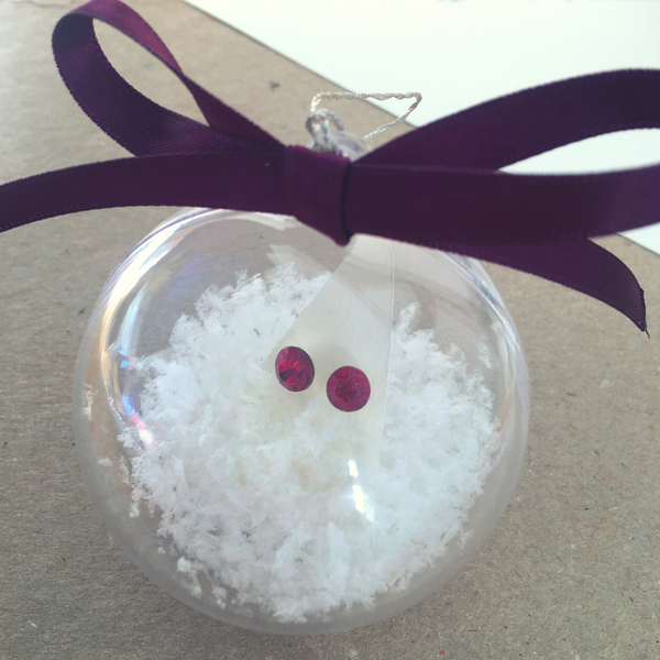 Christmas Bauble gift with Swarovski Crystal Element earrings