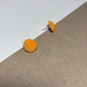 Yellow Chrysanthemum Handmade Stud Earrings