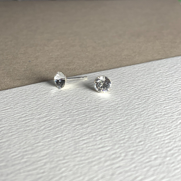 Dainty Swarovski Element Stud Earring Crystal