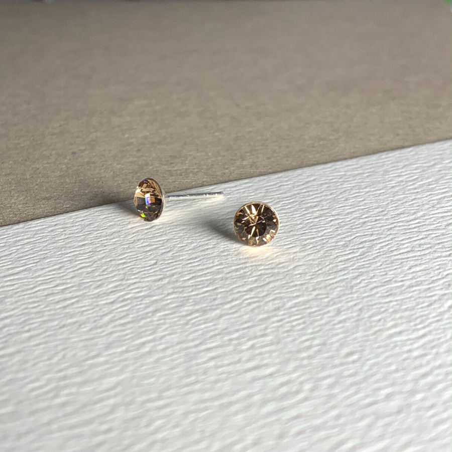 Dainty Swarovski Stud Earring Light Colorado