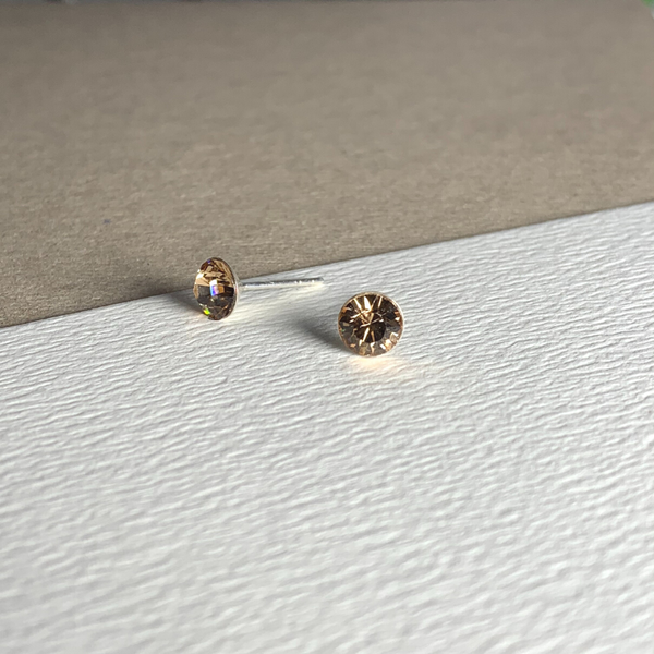 Dainty Swarovski Element Stud Earring Light Colorado
