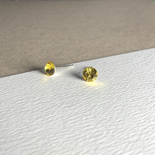 Dainty Swarovski Element Stud Earring Sunshine Yellow