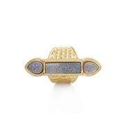 Rectangle Druzy Taj Mahal Ring