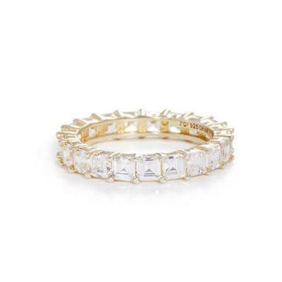 Clear Asscher Eternity Band