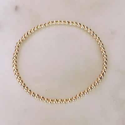 3mm Goldfilled Beaded Bracelet