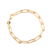Chunky Paper Clip Chain Bracelet, Gold