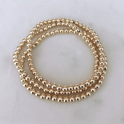 Goldfilled Beaded Bracelet Set