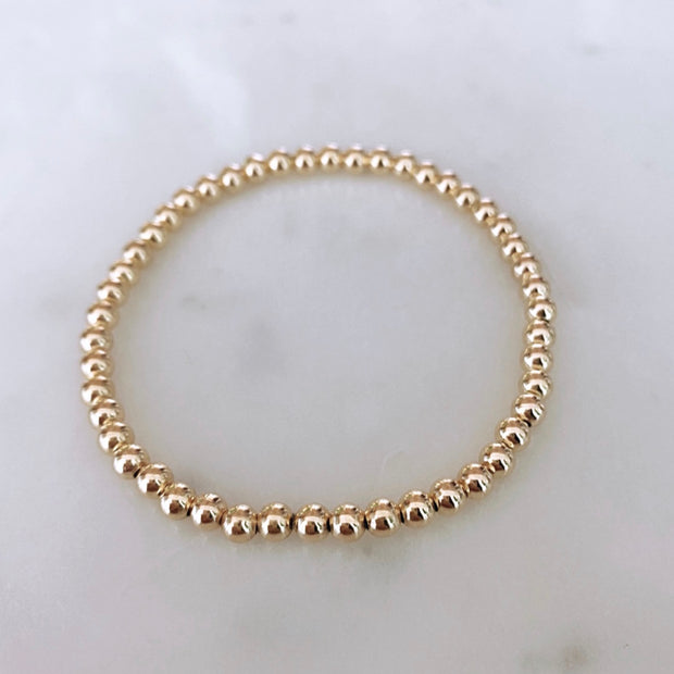 4mm Goldfilled Beaded Bracelet