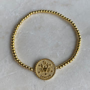 Cancer Zodiac Coin Bracelet