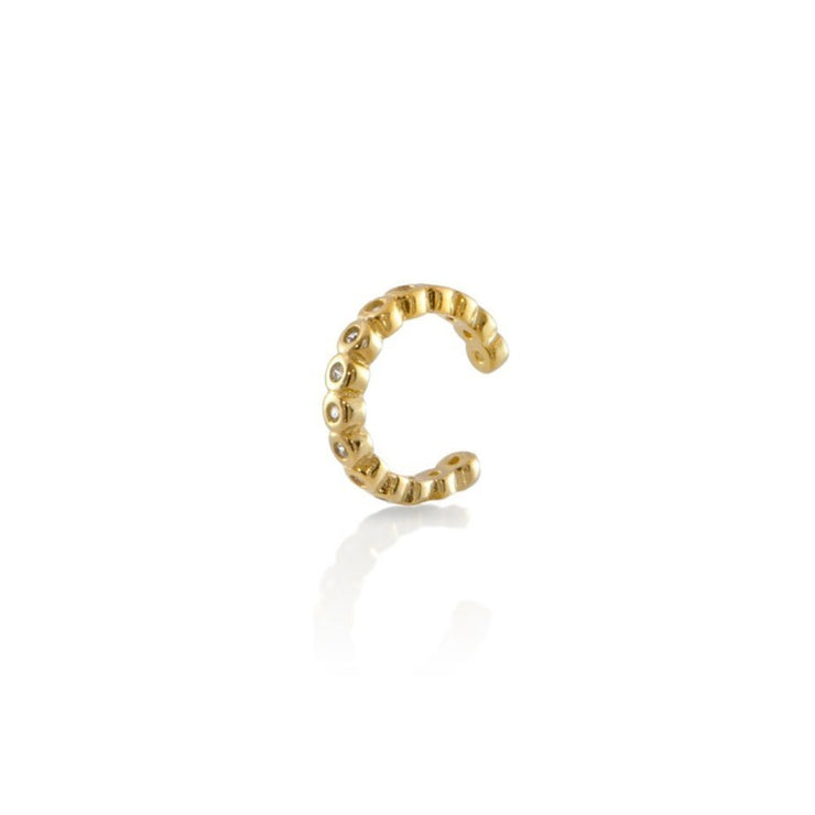 CZ Beaded Ear Cuff