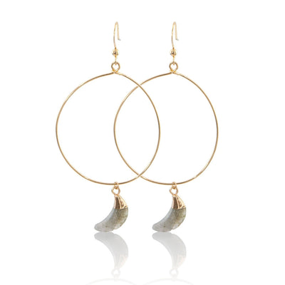 Gold Vermeil Moon Hoops