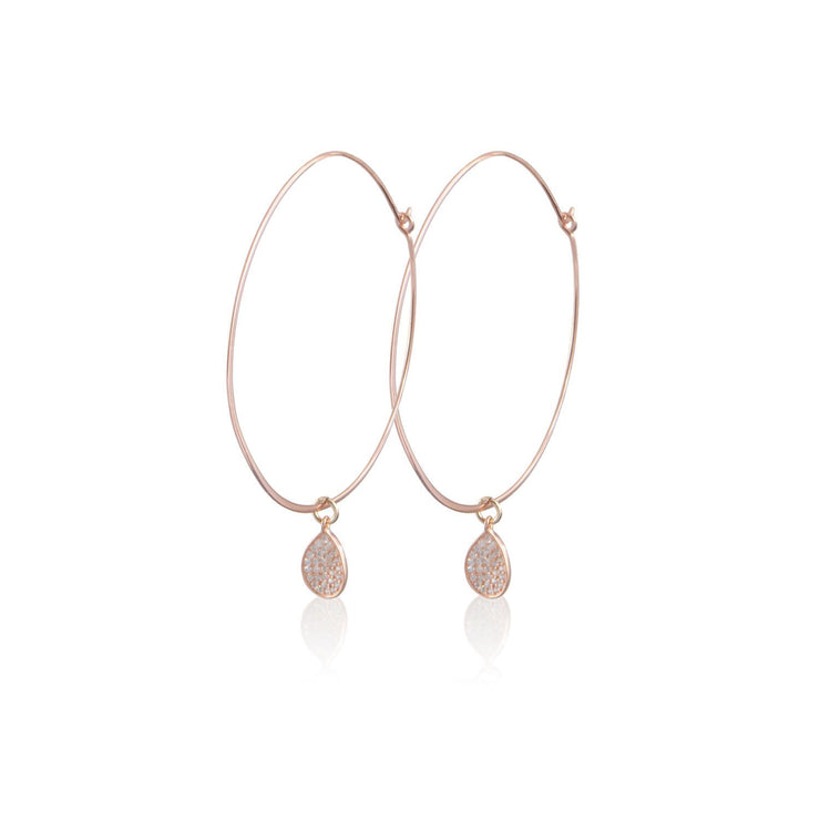 Hoops with Pave Charm