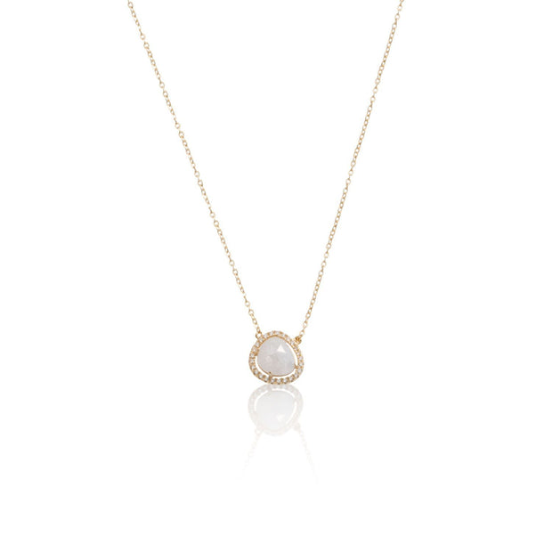 Crushed CZ Necklace