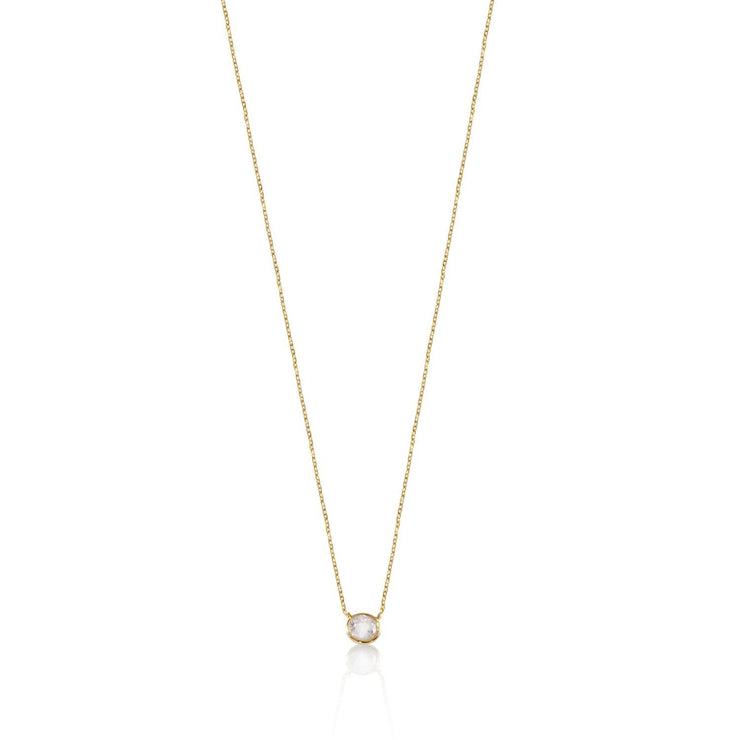 Bezel Set CZ Necklace