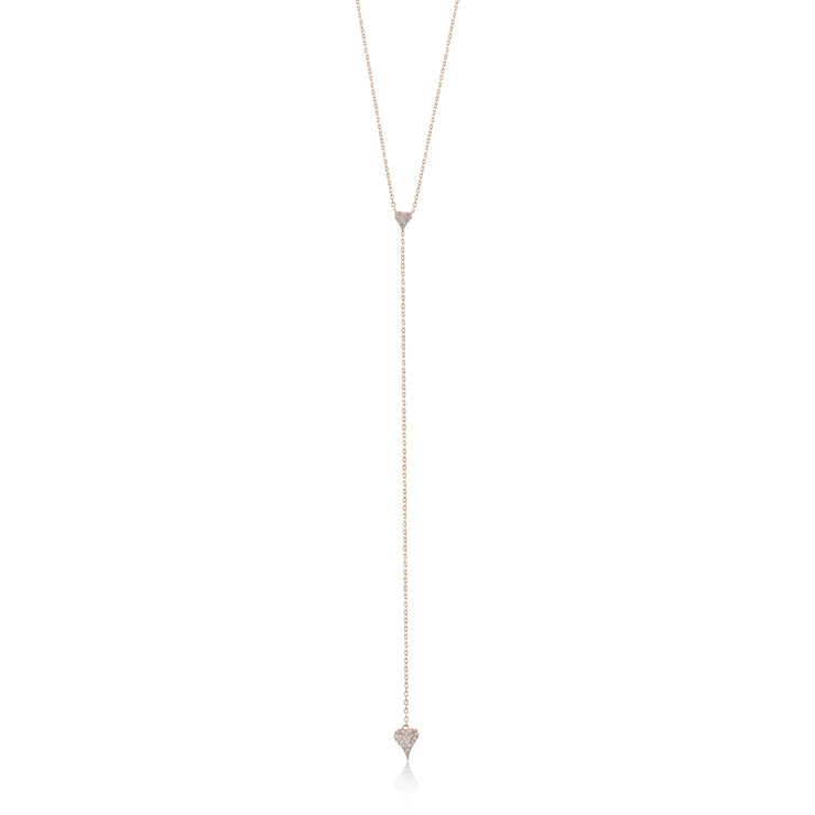 Heart Drop Lariat Necklace