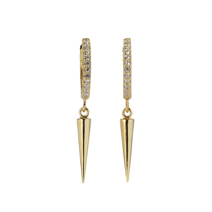 Huggie Earring with Dagger