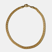 Double Curb Chain Goldfill Bracelet