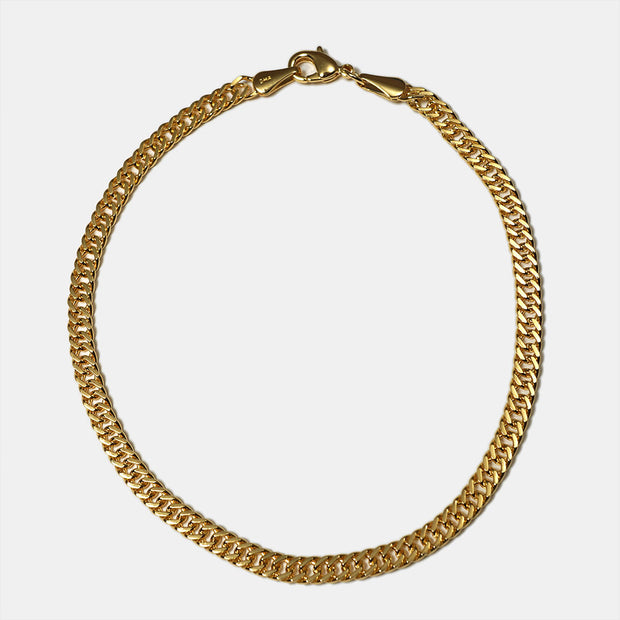 Double Curb Chain Goldfill Anklet