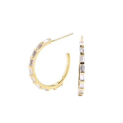 Baguette Hoop Earrings