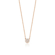Mini Pave Disc Necklace