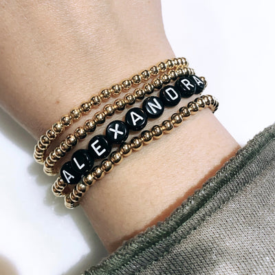Custom Name Bracelet Set