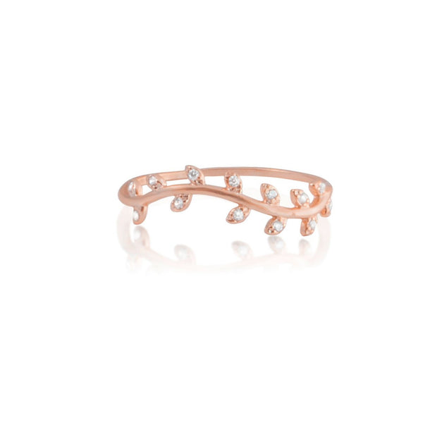Olive Branch Ring, Rose Gold