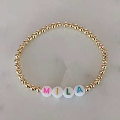 Name Bracelet 4mm - Rainbow