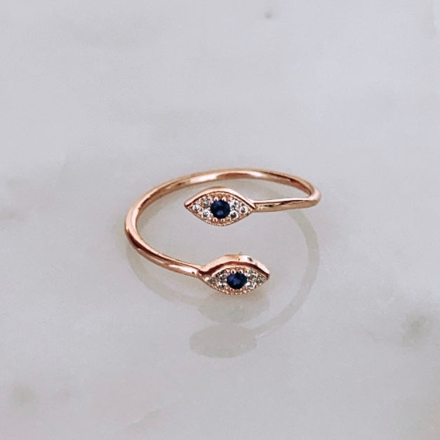 Double Evil Eye Ring