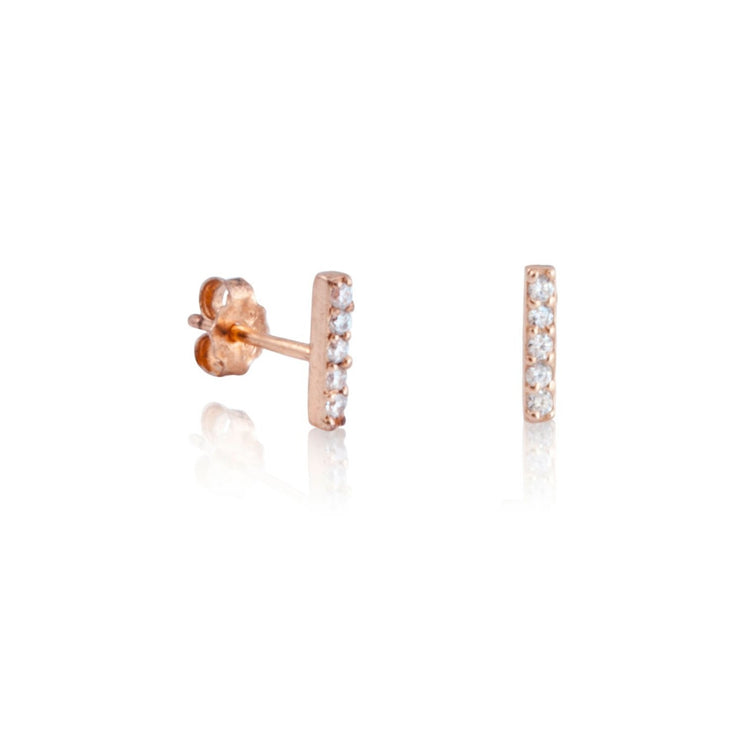 Pave Bar Earrings