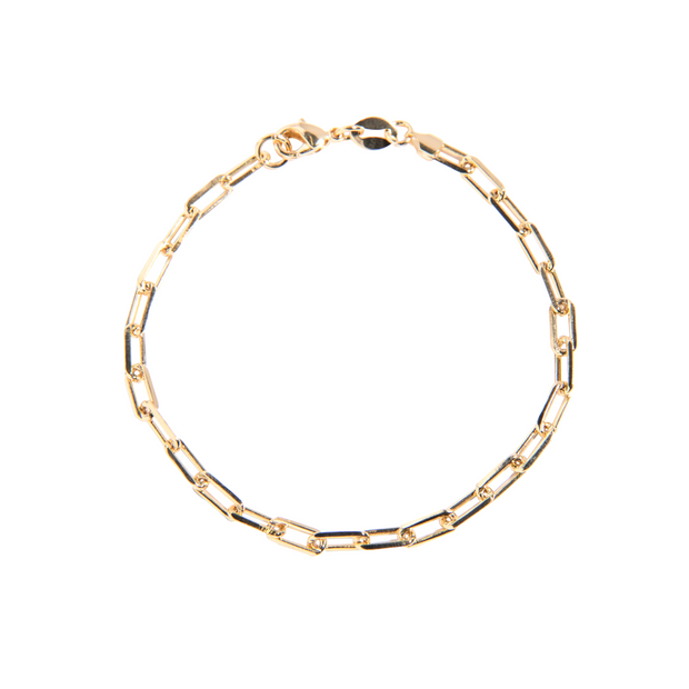 Classic Paper Clip Link Chain Anklet