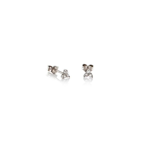 Tripod Stud Earrings Gold