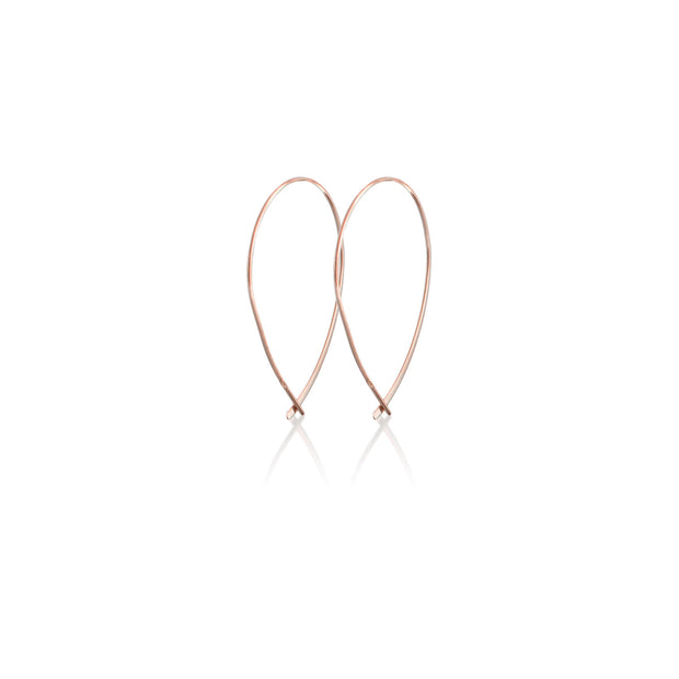 Vertical Open Hoop Earrings