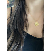Gemini Zodiac Coin Necklace