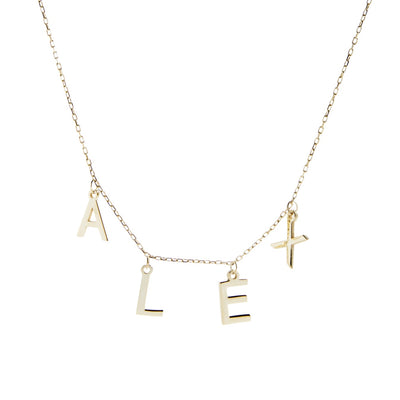 Hanging Letter Name Necklace