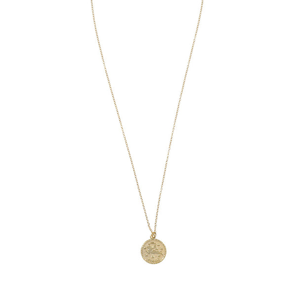 Virgo Zodiac Coin Necklace