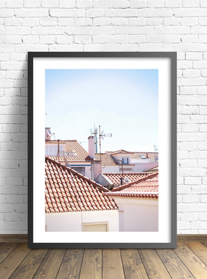 Ericeira Rooftops - Lively Bay - Posters - Livelybay.com