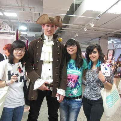 The Aroopy Pirate with some of his fans at UniqueLA