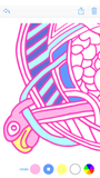 Coloring App Pink Outline iPhone6