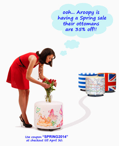 Spring is here!! Hooray!! We're having a spring sale with 35% off !!