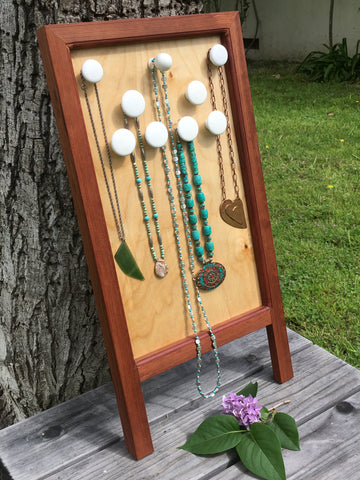 Wooden necklace board