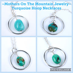 Turquoise Hoop Necklaces by Mothers On The Mountain Jewelry