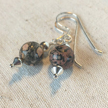 Load image into Gallery viewer, Jasper and Silver beaded Earrings Mothers On The Mountain Jewelry