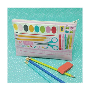 School Supply Zipper Pouch ~ Cut, Sew, Create Kit