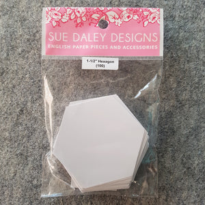 "1  1/2"" Hexagon ~ EPP Paper Template 100pc"