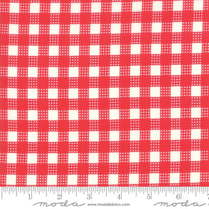 Deer Christmas ~ Red Gingham