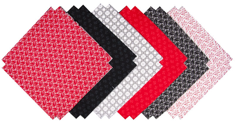 Shaggy Quilt Kit ~ Black, White & Red