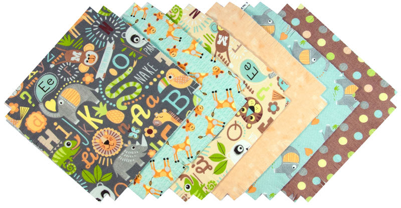 Shaggy Quilt Kit ~ Jungle School Flannel