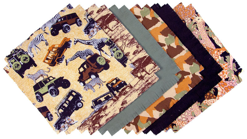 Shaggy Quilt Kit ~ Safari
